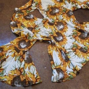 Sunflower Boutique Bell Sleeve Blouse